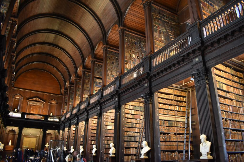 The Long Room of the Old Library at Trinity College